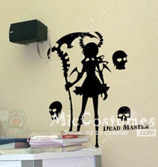 Black Rock Shooter Dead Master Wall Sticker