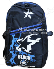 Black Rock Shooter Star Print Dark Blue School Bag