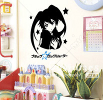 Black Rock Shooter Waterproof Wall Sticker