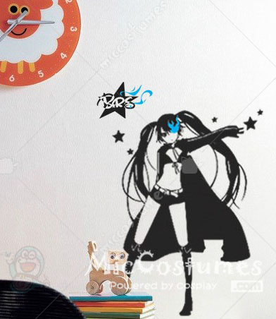 Black Rock Shooter Zatsune Miku Wall Sticker