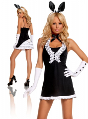 Black Tie Bunny Adult Costume