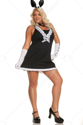 Black Tie Bunny Adult Plus Costume