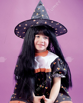 Black Witch Wig Child