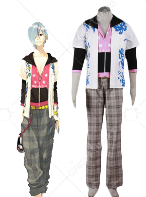 Black and Pink Scared Rider XechS Music Team Cosplay Costume