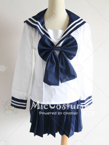 Black and White Sailor Suit Culture Cosplay Costume