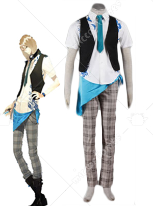 Black and White Scared Rider XechS Music Team Cosplay Costume
