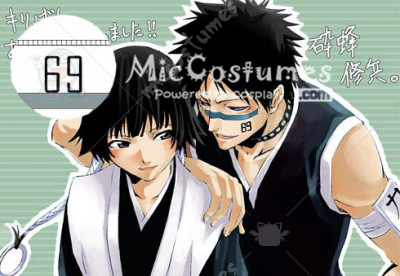 Bleach Hisagi Shuuhei Cosplay Tatoo Sticker