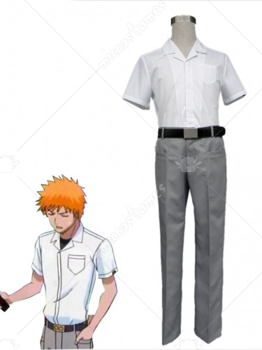 Bleach Ichigo Kurosaki Mens Karakura High School Summer Uniform