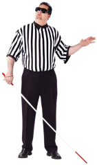 Blind Referee Plus Size Adult Costume