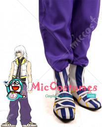 Blue and White Kingdom Hearts Riku Cosplay Shoes Boots