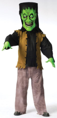 Bobble Head Adult Monster Green Adult Costume