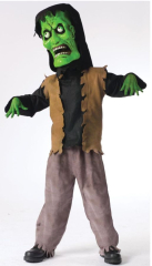 Bobble Head Monster Green Costume