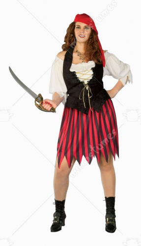 Buccaneer Bride Plus Size Costume