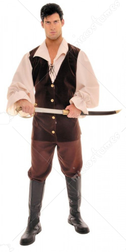 Buccaneer Tan Brown One Size Adult Costume