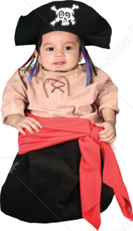 Bunting Ship Ahoy Baby Pirate Infant Costume