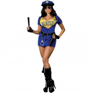 Busted Police Adult Plus Costume