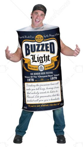 Buzzed Light Adult Costume