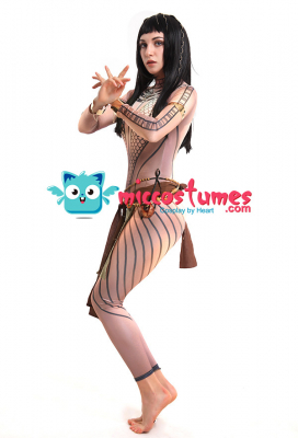 The Mummy Queen Ancksunamun Ancient Egypt 3D Printed Cosplay Costume Bodysuit Jumpsuit with Accessories