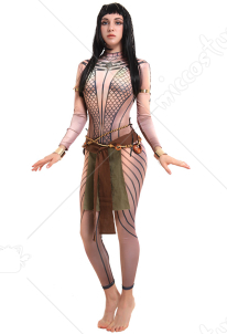 The Mummy Queen Ancksunamun Ancient Egypt 3D Printed Cosplay Costume Bodysuit with Accessories