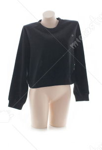 Back See Through Pullover Black Cute Sheer Hollow Long Sleeve Sweater