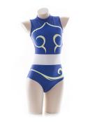 Street Fighter Chun Li Swimwear One Piece Swimsuit Cosplay Costume