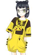 Pikachu Suit Cute Pikachu Short T shirt And Bib Pants Japanese Style Girl Summer Suit