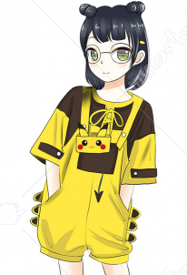 Pikachu Suit Cute Pikachu Short T shirt And Bib Pants Japanese Style Girl Summer Suit