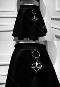 Dark Gothic Costume Ring Embroidery Skirt For Spring And Summer