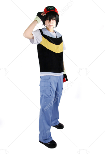 Pokemon X And Y Ash Ketchum Royal Blue And Yellow Cosplay Costume