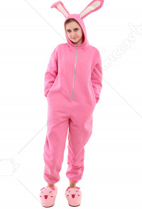 Adult Bunny Rabbit Suit Pajama Halloween Costume Including Shoes