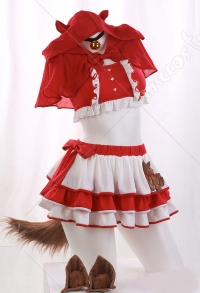 Fairytale Little Red Riding Hood Sweet Skirt Swimwear Cospaly Costume Cute Ruffle Two Piece Swimsuit