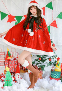 Christmas Party Santa Clothes Cosplay Costume Girls Cute Japanese Style Cloak Outfits