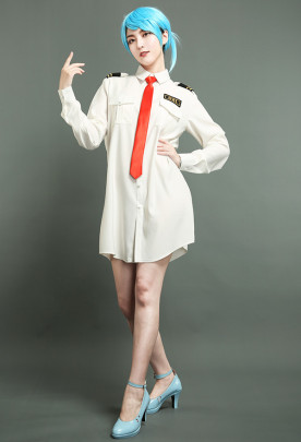 Animal Crossing New Horizons Female Wilbur Rodri Orville Mori Dodo Airlines Pilot Cosplay Costume Oversized T-Shirt Dress