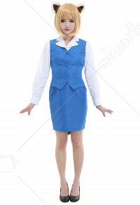 Aggretsuko Red Panda Retsuko Cosplay Costume Office Lady Suit Female Uniform with Tail and Ears