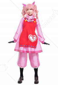 Animal Crossing Reese Risa Cosplay Costume Women Dress Outfits with Apron and Ears