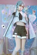 Alice in Wonderland Laser Boy Caterpillar Cosplay Costume