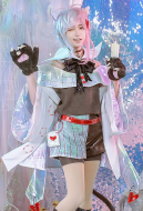 Alice in Wonderland Laser Boy Cheshire Cat Cosplay Costume