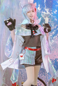 Alice in Wonderland Laser Boy Cheshire Cat Cosplay Costume