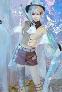 Alice in Wonderland Laser Boy Mad Hatter Cosplay Costume