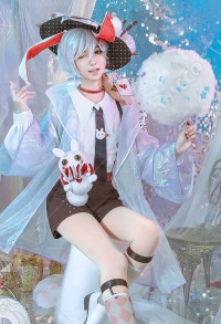 Alice in Wonderland Laser Boy March Hare Cosplay Costume
