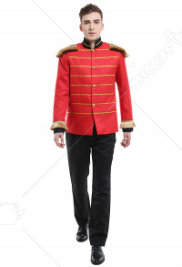Men A Nutcracker Christmas Guards Jacket Fullset Cosplay Costume with Tassel