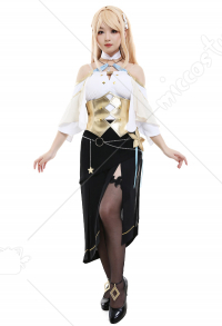 Atelier Ryza 2: Lost Legends & the Secret Fairy Klaudia Valentz Steampunk Medieval Alchemist Uniform Dress Cosplay Costume Woman Full Set with Waist Accessory and Pantyhose