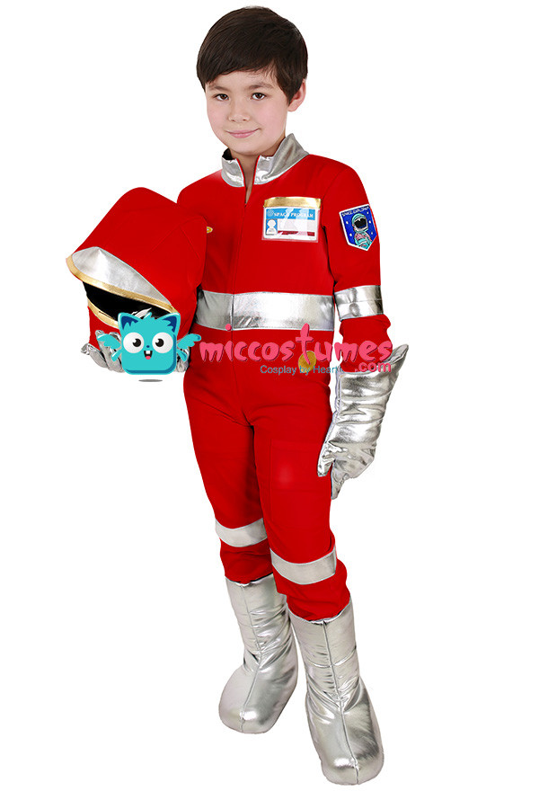 Kinder Rot Astronaut Kostüm
