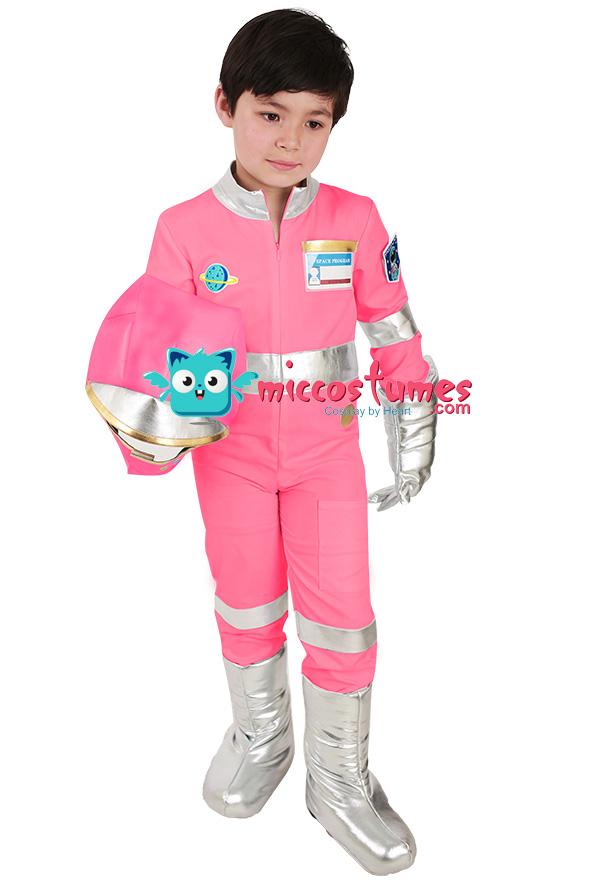 Kinder Rosa Astronaut Kostüm