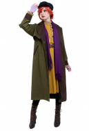 Princess Anastasia Romanov Anya Orphan Dress Gown Cosplay Costume with Hat and Scarf