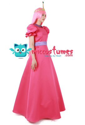 Adventure Time Princess Bubblegum Cosplay Costume with Crown
