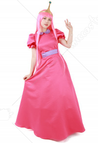 Adventure Time Princess Bubblegum Disfraz de Cosplay con corona