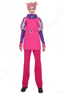 Adventure Time Prince Gumball Cosplay Costume with Crown