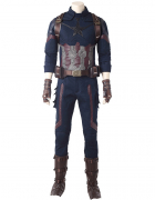 Super Hero Captain America Fullset Cosplay Costume Inspired by Avengers: Infinity War Order to Made (Including Shoes)