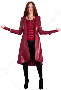 Super Heroine Wanda Maximoff Scarlet Witch Cosplay Costume Coat Inspired by Avengers: Infinity War Make to Order